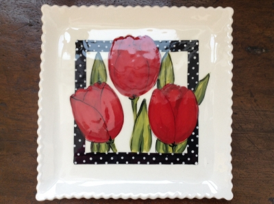 Heather Lane Pottery Tulip Tray