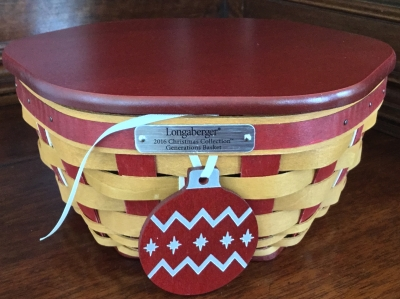 2016 Longaberger Generations Basket with Lid, Fabric Liner and Plastic Protector