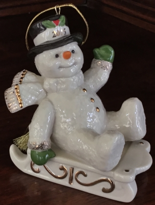 Lenox 2015 Snowy Sleigh Ride Ornament