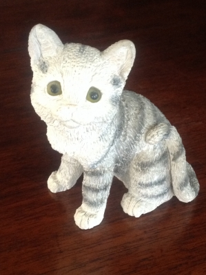 Stone Critters Grey Tabby