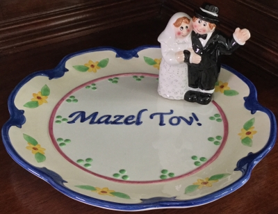 Mazel Tov Wedding Plate