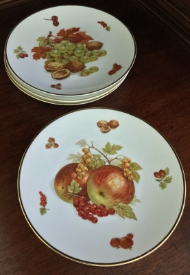 "Debra ""Fruit"" Plates, Set of 4"