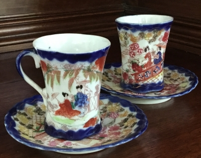 Japanese Teacup and Saucer, Set of 2