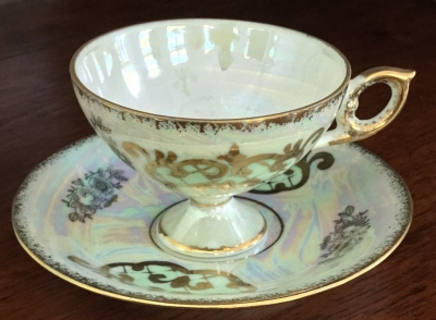 Royal Crown Opalescent Teacup and Saucer