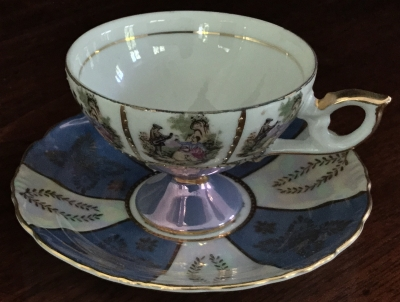 """Serenading"" Teacup and Saucer"