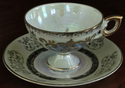 Royal Crown White Teacup and Saucer