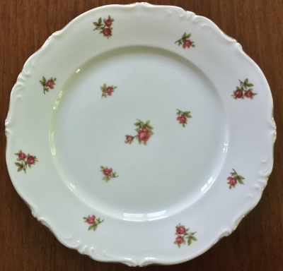 Bavaria China Rose Plate