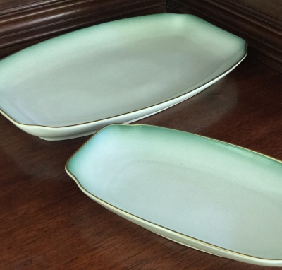 Rosenthal Chrysopras Medium and Small Serving Plates, Set of 2