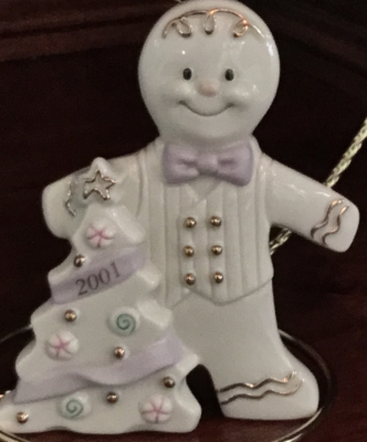 Lenox 2001 Gingerbread with Tree Ornament