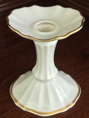 "Lenox ""Scalloped"" Candle Holder"