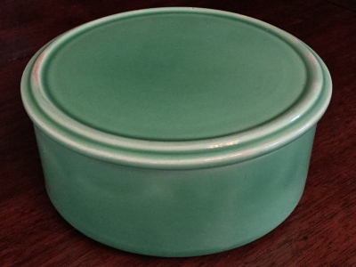Vintage Fiestaware Green Covered Butter Dish