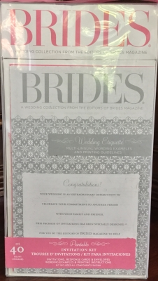 Brides Magazine Invitation Kit, Pink Jacket