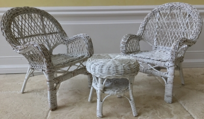 Miniature Chairs and Table, Set of 3
