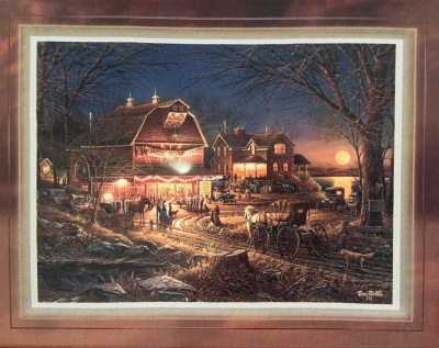 Terry Redlin, Harvest Moon Ball Porcelain Print