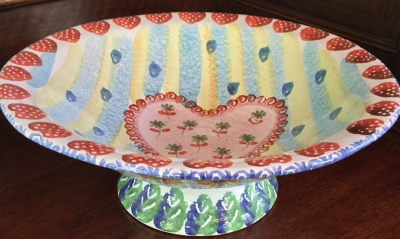 """Heart"" Footed Bowl"