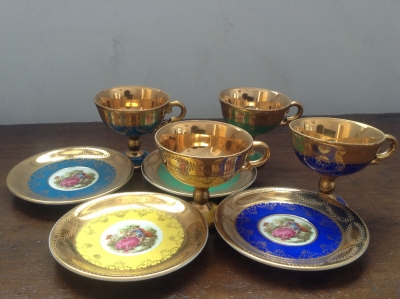 Royal Vienna Tea Cups and Saucers