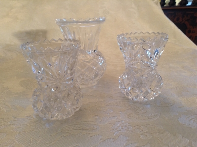 Cut Glass Toothpick Holders