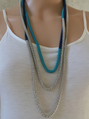 Tri-Color Bead Necklace