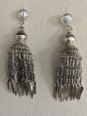"""Chain Chandelier"" Post Earrings"