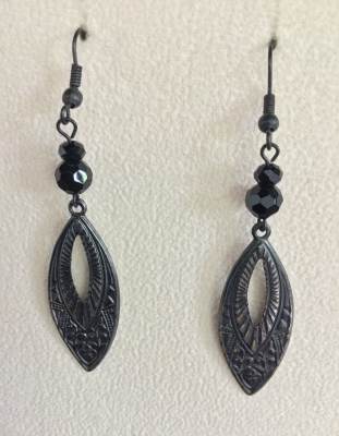 Dark Metal Earrings