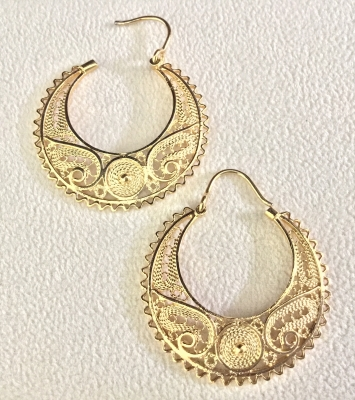 "Crescent with ""Lace"" Earrings"