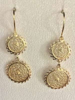 Double-Circle Drop Earrings