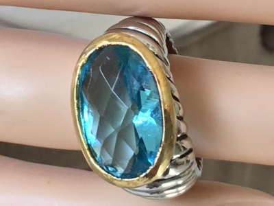 Blue Stone Ring, Size 6 1/2