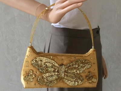 """Butterfly"" Sequin Handbag"