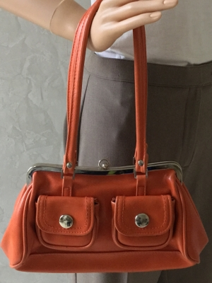 Fashion Express Pumpkin Handbag