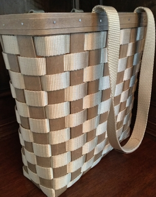 2007 Longaberger Woven and Grosgrain To Go Basket