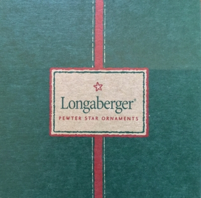 Longaberger Pewter Star Ornaments