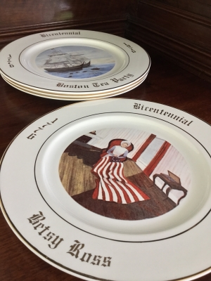 R&N China Co. Bicentennial Plates, Set of 4