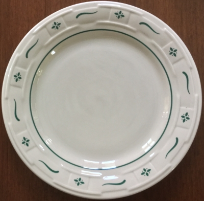 Longaberger Classic Green Woven Plate