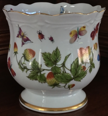 Butterfly and Strawberry Vase