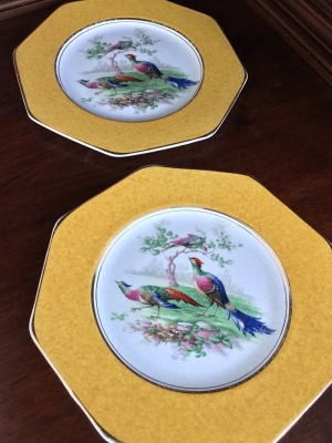 Wedgwood Bird Plates, Set of 2