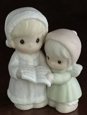 Precious Moments, Sugar Town Two Girls Carolling Figurine