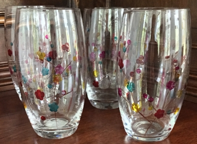Cherry Blossom Tumblers, Set of 4