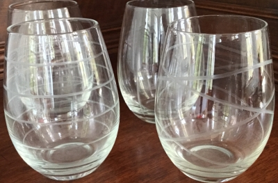 """Geometric"" Glasses, Set of 4"