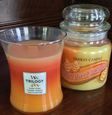 WW Trilogy and Yankee Candle Super Sweet Pumpkin Candles, Set of 2
