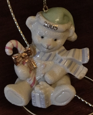 Lenox 2005 Bear with Gifts Ornament