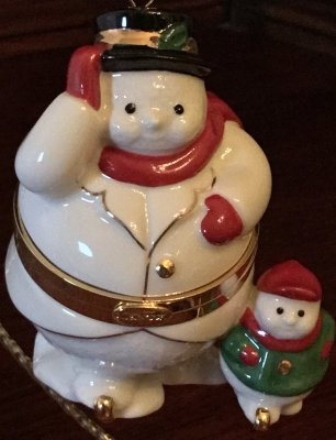 Lenox Snowman Box Ornament