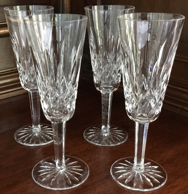 Waterford Flutes, Set of 4