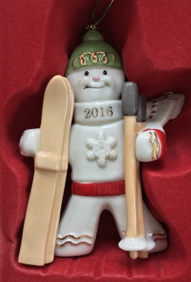 Lenox 2016 Downhill Delight Gingerbread Ornament