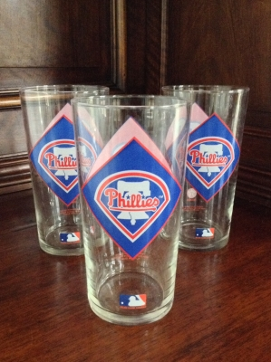 Phillies Glasses, Set of 3
