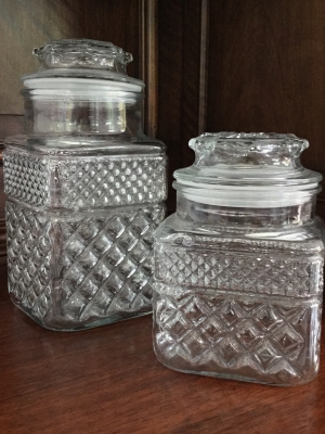 Cut Glass Decanters, Set of 2