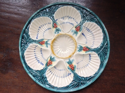 Painted Oyster Serving Plate