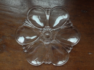 Glass Oyster Serving Plate
