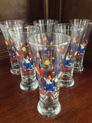 Spuds MacKenzie Glasses, Set of 6
