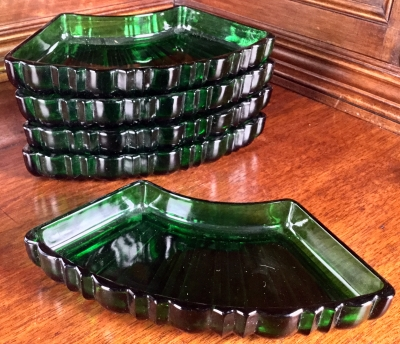 Green Serving Trays, Set of 5