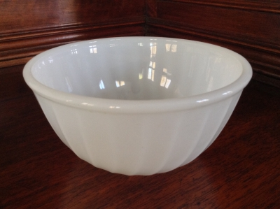 Fire King Small White Swirl Bowl